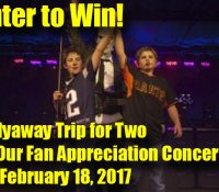 We're Flying One Lucky V Squared Fan out to our Annual Fan Appreciation Concert