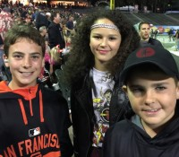 Sophia wins V Squared's Biggest Fan Contest and joined Vittorio and Vincenzo to see AC/DC at ATT Park