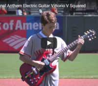 Video of Vittorio playing National Anthem at ATT Park Giants Game